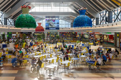 People Crowd Rush In Shopping Luxury Mall Interior Stock Images