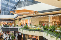 People Crowd Rush For Shopping In Luxury Mall Interior Royalty Free Stock Photography