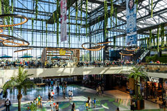 People Crowd Rush For Shopping In Luxury Mall Interior Royalty Free Stock Images