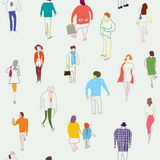 People and crowd seamless  pattern Stock Photography