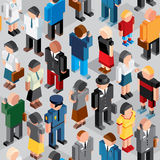 People Crowd. Seamless Vector Patten Royalty Free Stock Photography