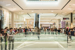 People Crowd Shopping In Luxury Mall Interior Royalty Free Stock Photo