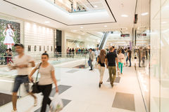 People Crowd Shopping In Luxury Mall Interior Royalty Free Stock Photography