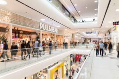 People Crowd Shopping In Luxury Mall Interior Royalty Free Stock Image