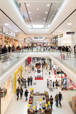 People Crowd Shopping In Luxury Mall Interior Royalty Free Stock Photos