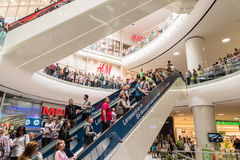 People Crowd Shopping In Luxury Mall Interior Royalty Free Stock Images
