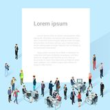 People crowd, vector background. Mock up. Men and women, various professions and styles, people diversity presentation, web site, banner template Royalty Free Stock Photo
