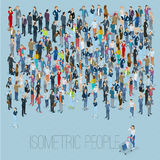 People crowd. Vector template. People crowd. Isometric vector background mock up Royalty Free Stock Image