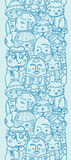 People in a crowd vertical seamless pattern Royalty Free Stock Photos