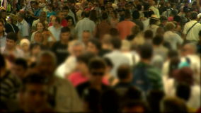 People crowd walking stock footage