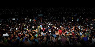 People Crowds Night Time Marina Beach Royalty Free Stock Image
