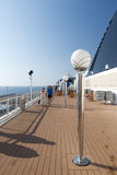 People on a cruise ship deck Royalty Free Stock Image
