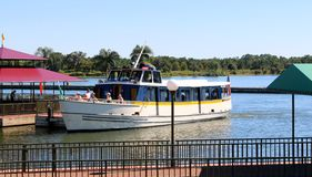 Cruise yacht at Disney's Magic Kingdom. Cruise yacht at Disneyworld's Magic Kingdom stock photos
