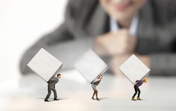 People with cubes Royalty Free Stock Image