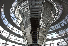 The Cupola on top of the Reichstag building in Berlin Royalty Free Stock Photography