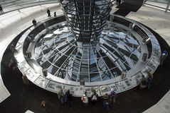 The Cupola on top of the Reichstag building in Berlin Royalty Free Stock Image