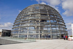 The Cupola on top of the Reichstag building in Berlin Royalty Free Stock Photos