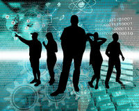 People in cyberspace Royalty Free Stock Image