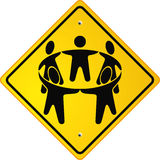People cycle sign Stock Images