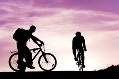 People cycling Stock Images