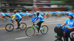 People cycling together in the event BIKE FOR MOM Stock Photos