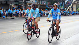 People cycling together in the event BIKE FOR MOM Stock Photography