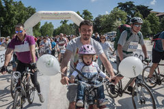 People at the Cyclopride meeting in Milan Stock Photos