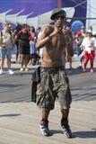 People dance on the Coney Island Boardwalk in Brooklyn Royalty Free Stock Photos