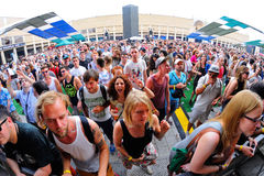 People dance and have fun at Sonar Festival Royalty Free Stock Photo