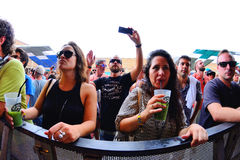 People dance at Sonar Festival Royalty Free Stock Images