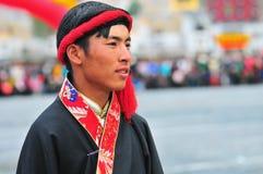 People dance tibetan dance Stock Images