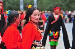 People dance tibetan dance Stock Photo