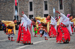 People dance tibetan dance Royalty Free Stock Image