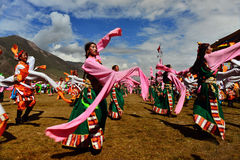 People dance tibetan dance Stock Image
