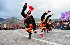 People dance tibetan dance Stock Photography