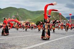People dance tibetan dance Royalty Free Stock Photo