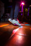 People on the dancefloor during a wedding celebration/party. (motion blurred image Stock Images