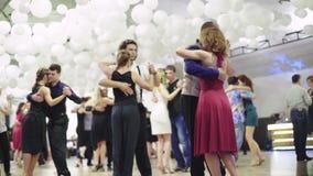 Kyiv, Ukraine – July 3, 2016. People dancers dance tango. Kyiv. Ukraine