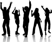 People dancing Royalty Free Stock Photos