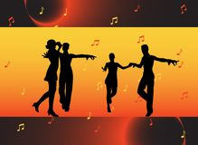 People dancing Royalty Free Stock Image
