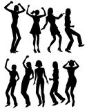 People dancing royalty free illustration