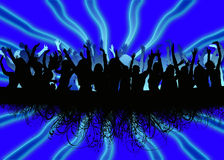 People dancing background. Illustration picture of people dancing Stock Image