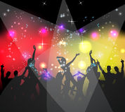 People dancing background party. Night Royalty Free Stock Photos