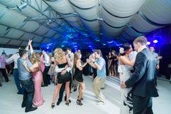 People dancing at bar Stock Photo