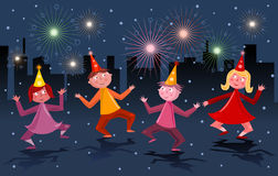 People dancing and celebrating royalty free stock photos