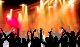 People dancing at concert Stock Photos