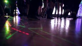 People Dancing on the Dance Floor stock video footage