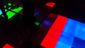 People dancing on the dance floor in a nightclub stock video footage