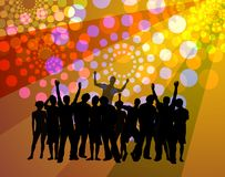 People dancing - disco atmosphere stock illustration