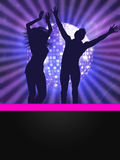 People dancing on disco party Stock Images